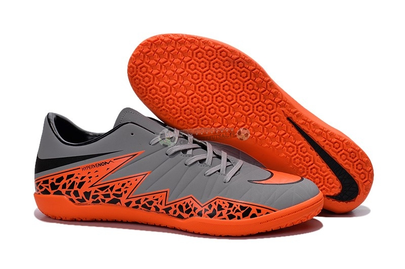 Nike HyperVenom Phelon II IC Gris Orange