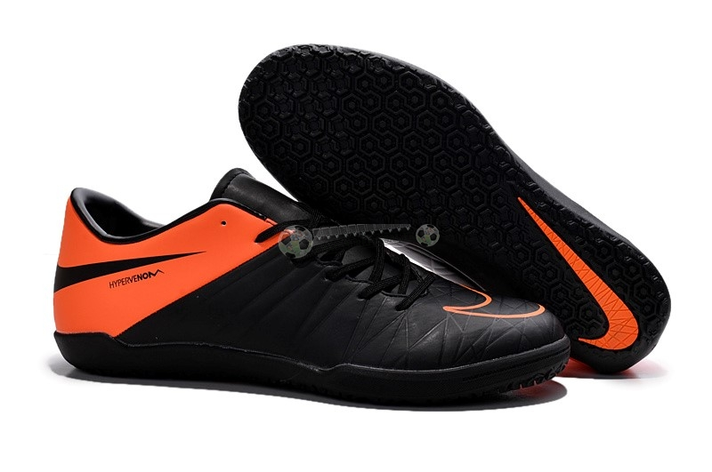Nike HyperVenom Phelon II IC Noir Orange