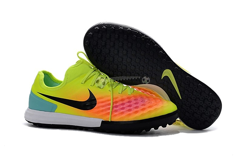 Nike MagistaX Finale II TF Jaune Orange Noir