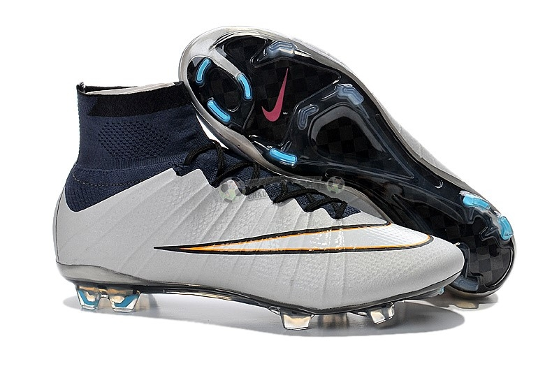 Nike Mercurial Superfly CR7 FG Gris Blanc