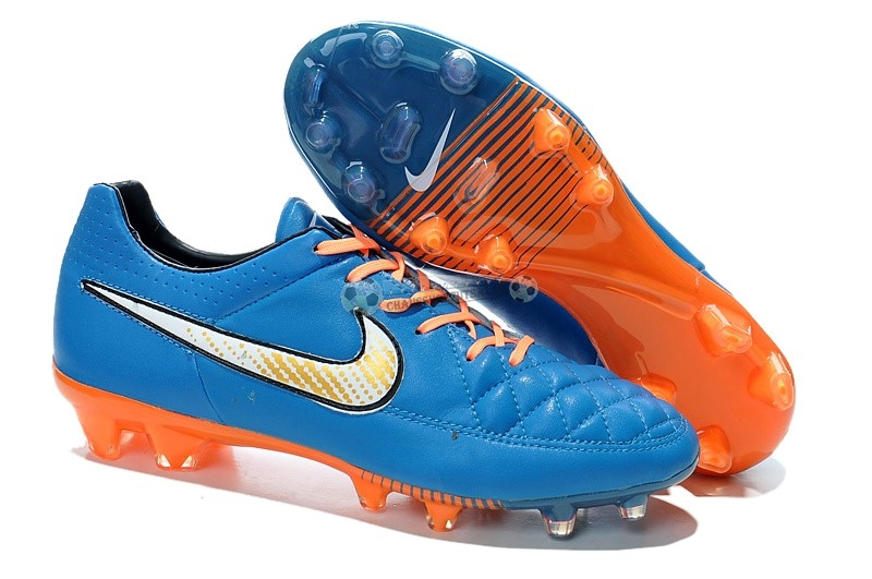 Nike Tiempo Legend V FG Bleu Orange
