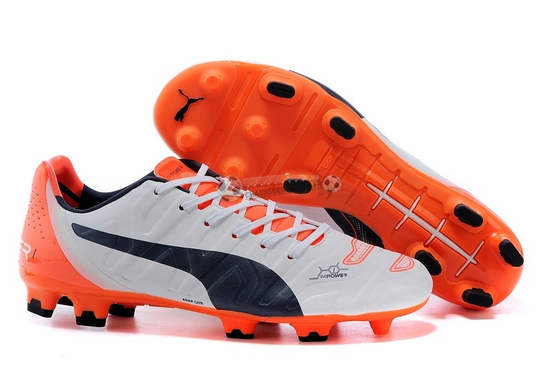 Puma evoPOWER FG Blanc Orange Noir