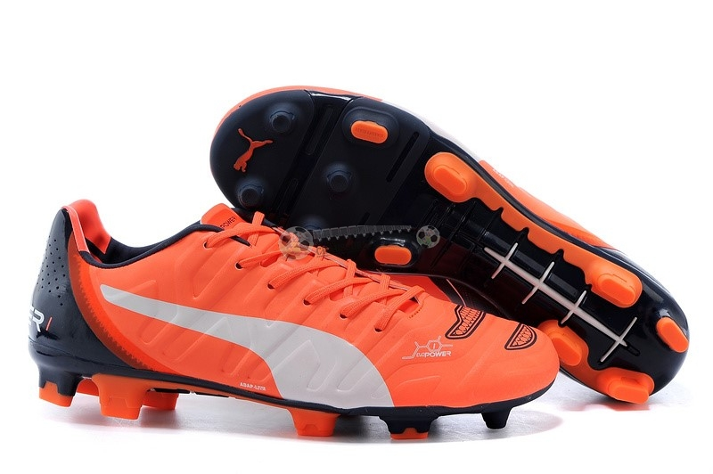 Puma evoPOWER FG Noir Orange Blanc
