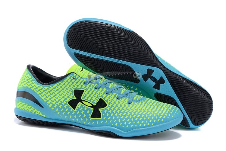 Under Armour Clutchfit Force IC Noir Bleu Vert Fluorescent
