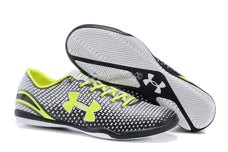 Under Armour Clutchfit Force IC Vert Fluorescent Noir Blanc