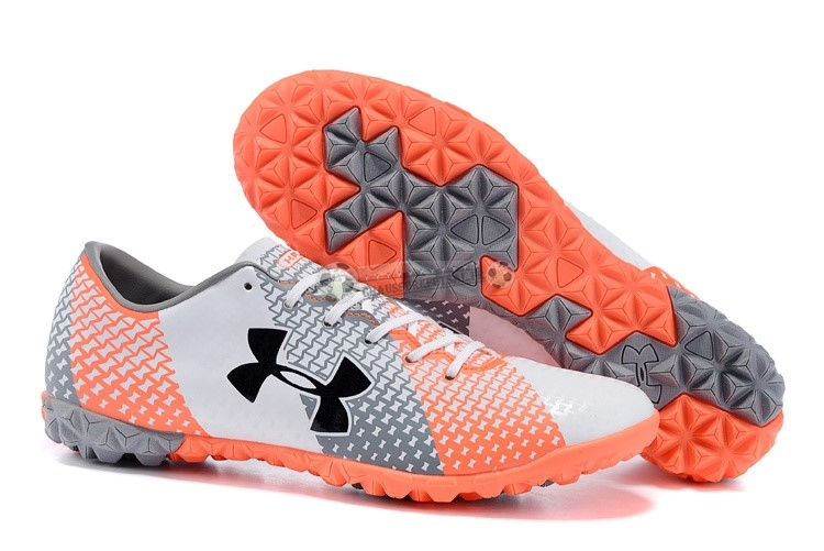 Under Armour Clutchfit Force TF Gris Blanc Rouge