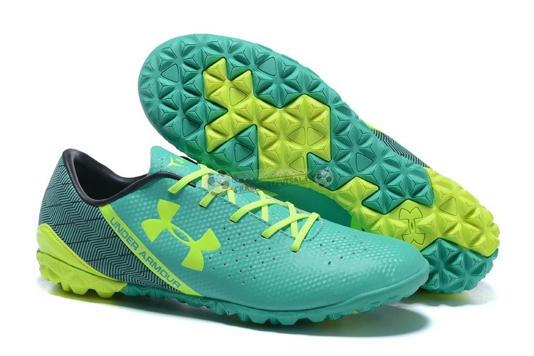 Under Armour Clutchfit Force TF Noir Vert Vert Fluorescent