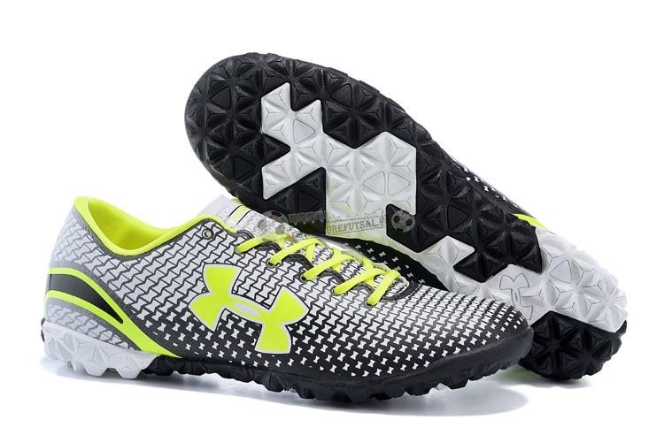 Under Armour Clutchfit Force TF Vert Fluorescent Noir Blanc