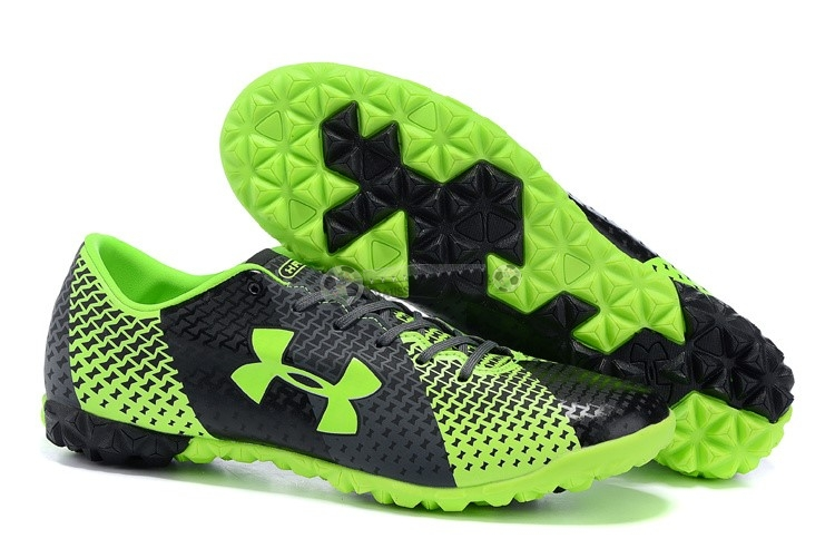 Under Armour Clutchfit Force TF Vert Fluorescent Noir
