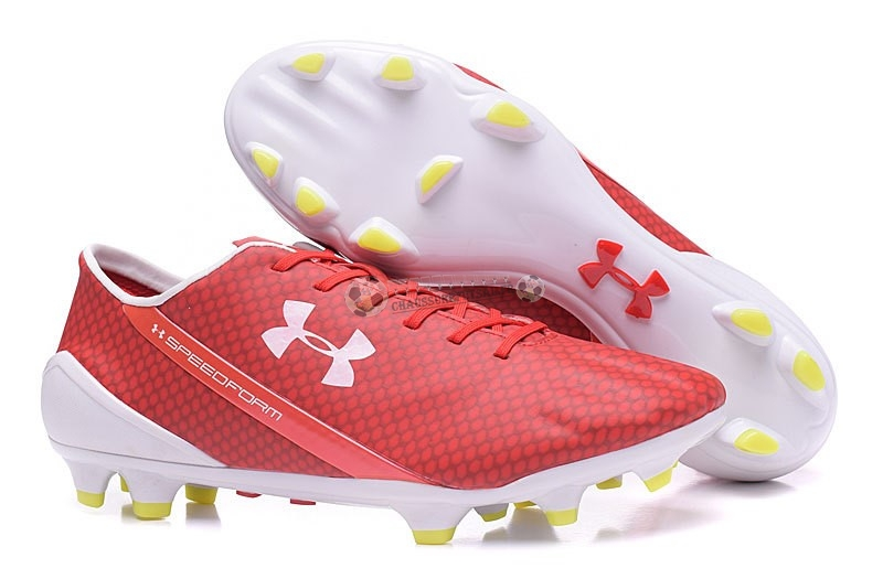Under Armour Speedform FG Rouge Blanc