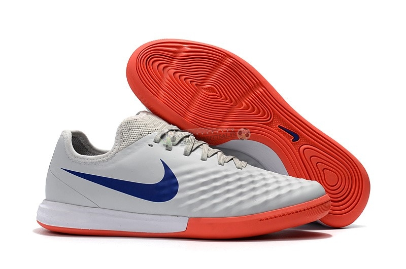 Nike MagistaX Finale II IC Orange Bleu Blanc
