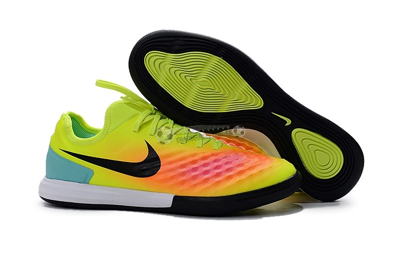 Nike MagistaX Finale II IC Vert Orange Rose
