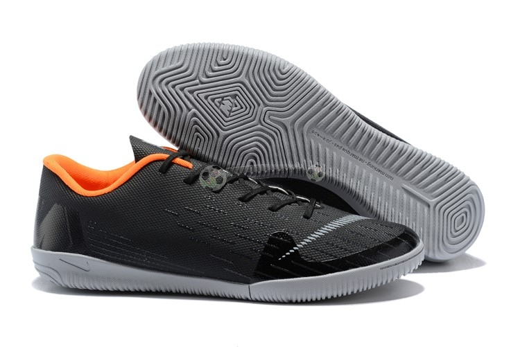 Nike Mercurial VaporX 12 Club IC Noir Gris Orange