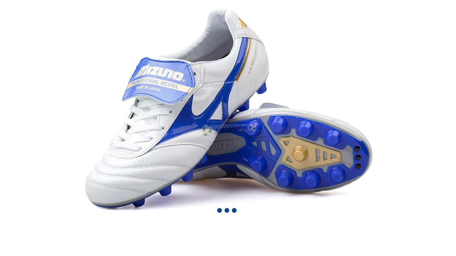 "Mizuno Morelia II JAPAN ""Legend Blue"" MD Blanc"