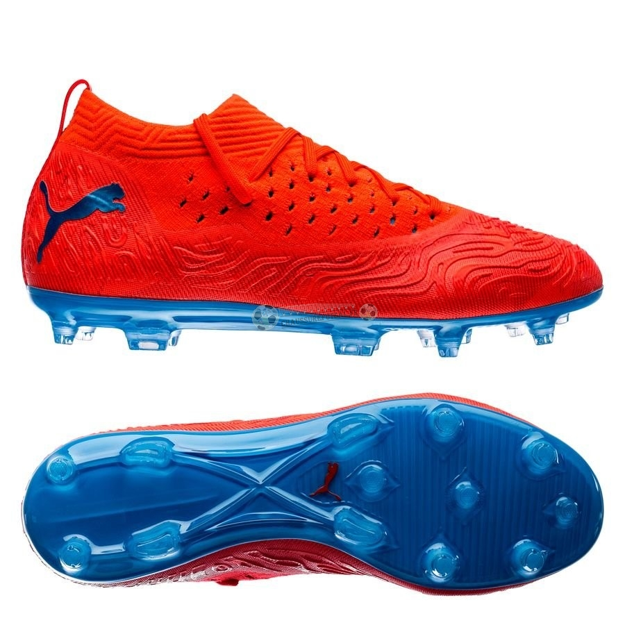 Puma Future 19.2 Netfit FG/AG Power Up Rouge Bleu