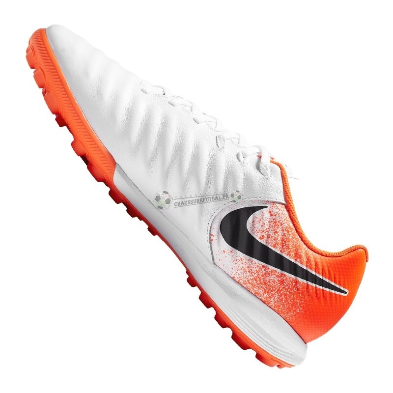 Nike Tiempo LegendX VII Pro TF Orange Blanc