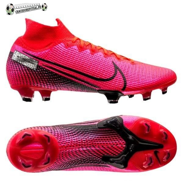 Nike Mercurial Superfly 7 Elite FG Noir Cramoisi